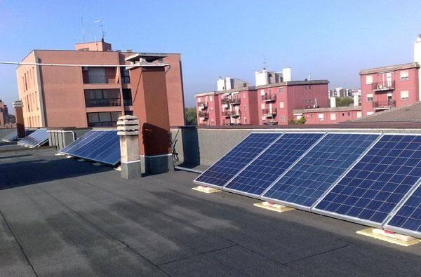 fotovoltaico nel tetto condominio